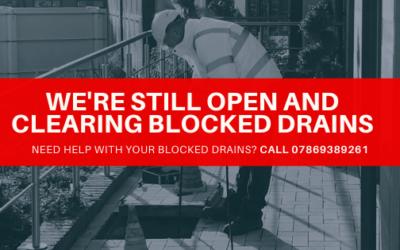 We're still open and unblocking drains in Birmingham (Coronavirus update)